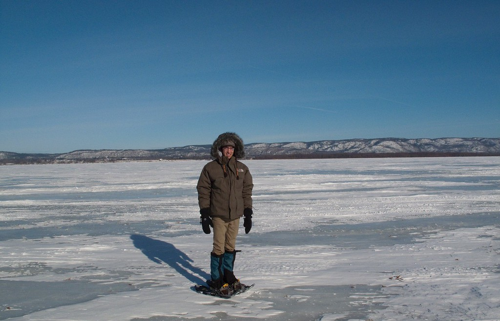 Lonny Snowshoeing on the Ottawa River