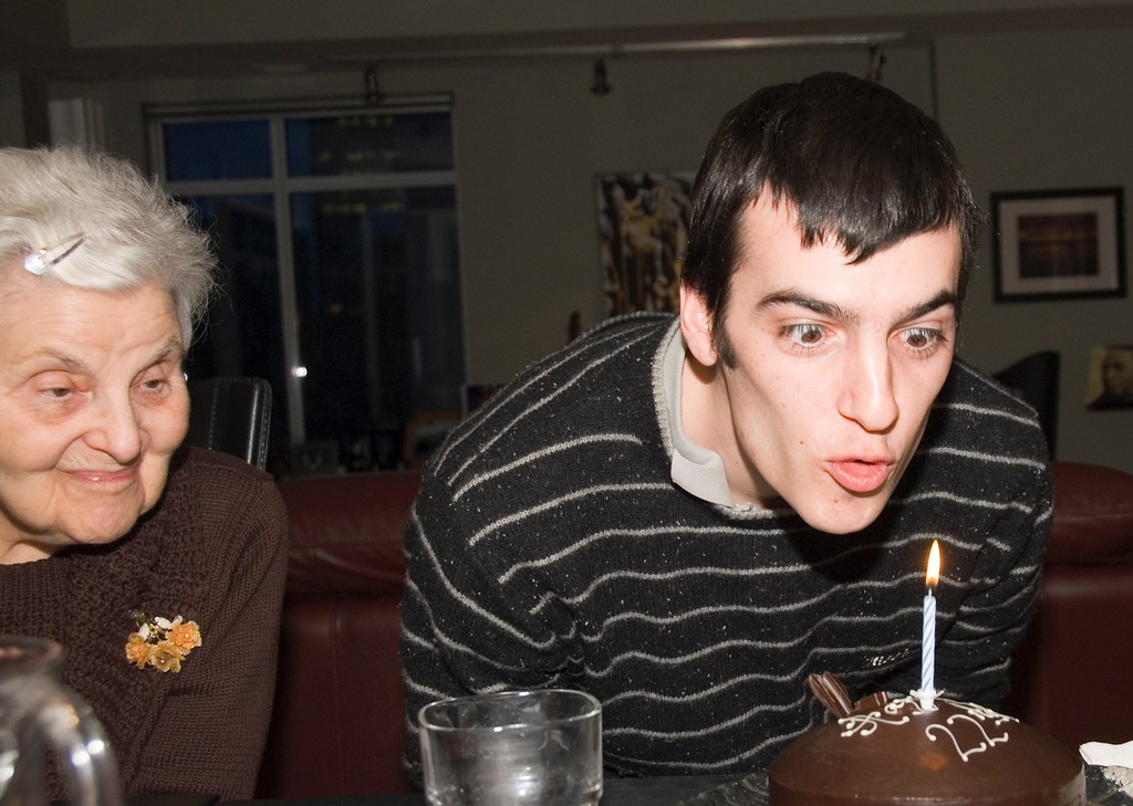 Bubba and Lonny at a Birthday Party