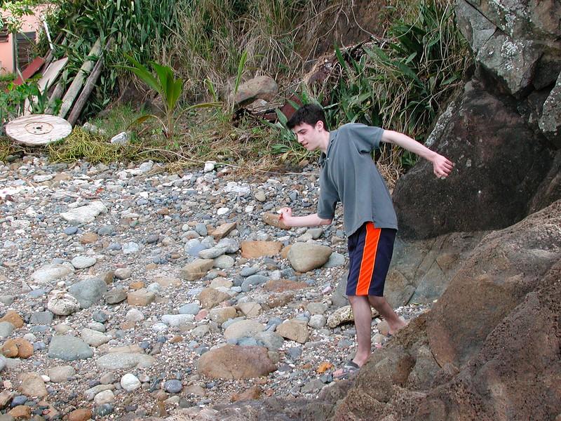Lonny Skipping Stines in Tortola BVI
