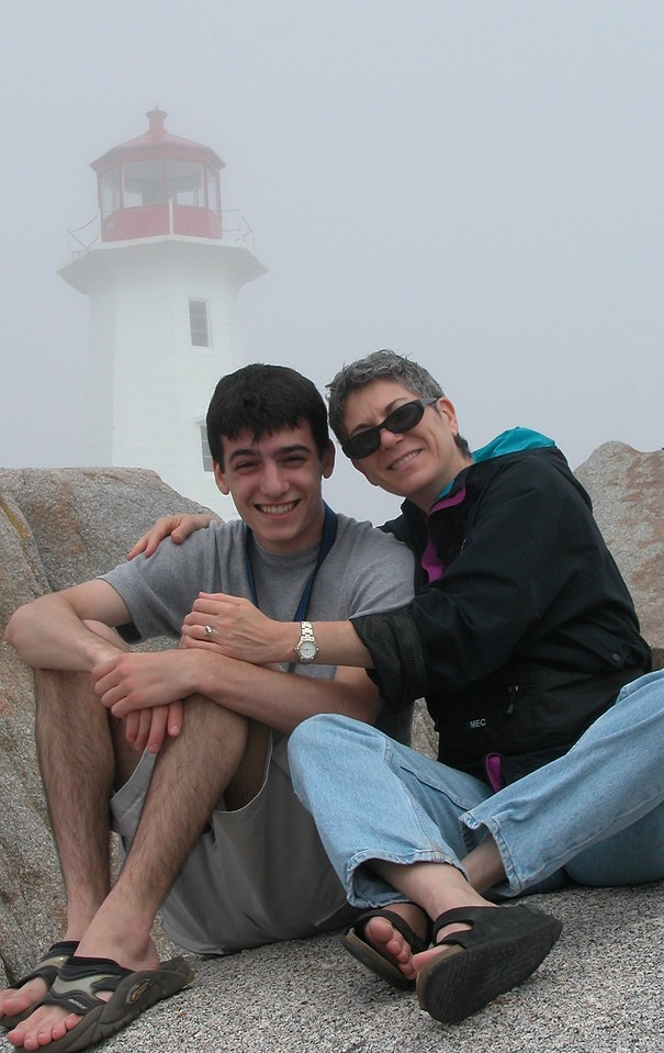 Lonny and Mom in Peggy's Cove Nova Scotia