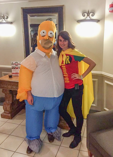 Lonny Homer and Adisa on Halloween