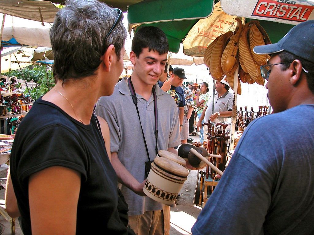 Lonny Buying Bongos in Havana Cuba