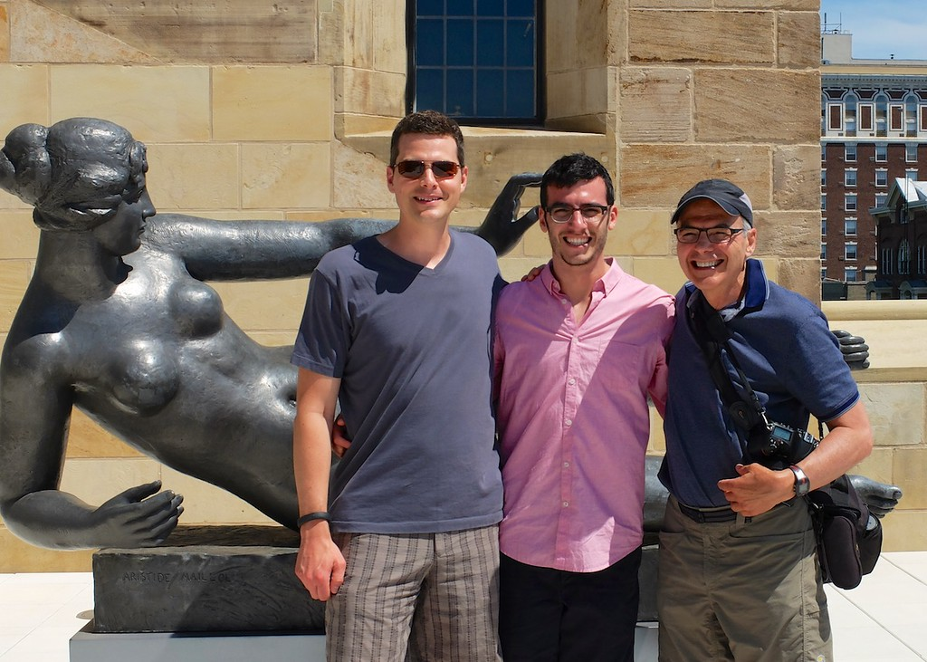 Jordan, Lonny and Dad in New Haven at Yale University Art Gallery