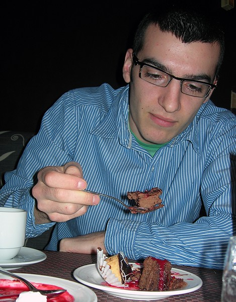 Lonny at a Buffet at Daly's