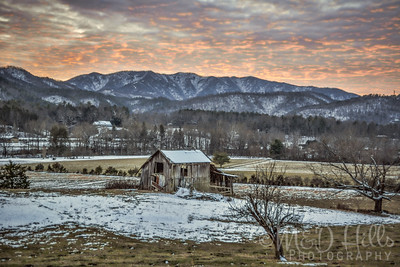 Winter Sky At The Old Rickety Barn