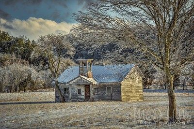 Winter At The Old Island View School House