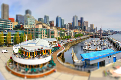 Seattle Waterfront - Tilt Shift Experiment - 2018