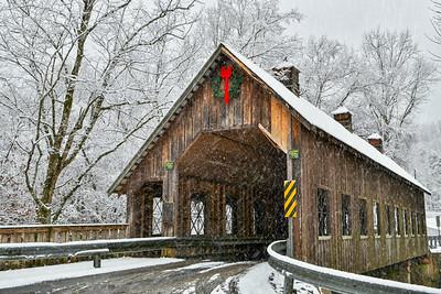 Winter At Emert's Cove Covered Bridge