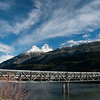 Snowy Peaks over Yakutania Bridge