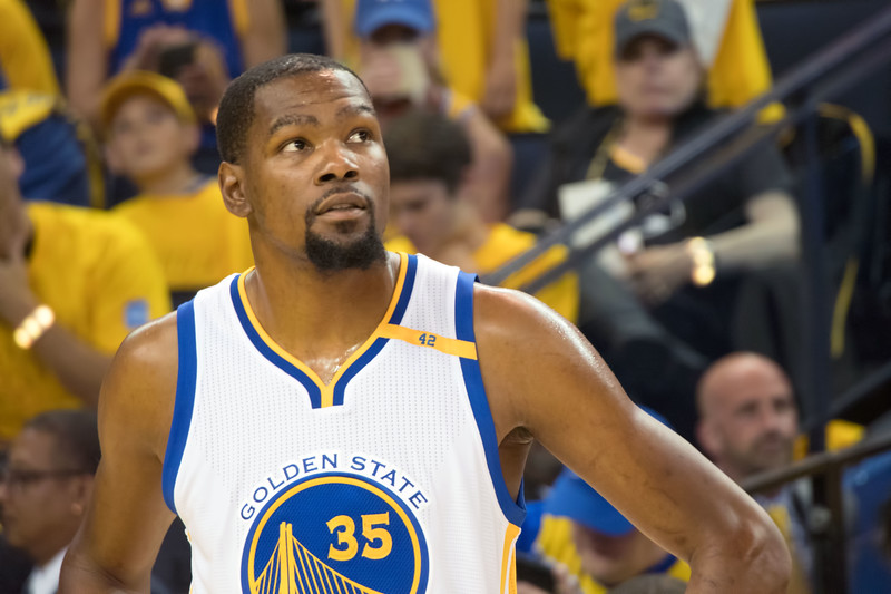 Kevin Durant.  What to say?  <br /> <br /> (Fans were not permitted to bring big cameras to the game, so all the shots and video (posted on youtube) were shot with a small mirrorless camera.  Not great given the arena lighting conditions.)