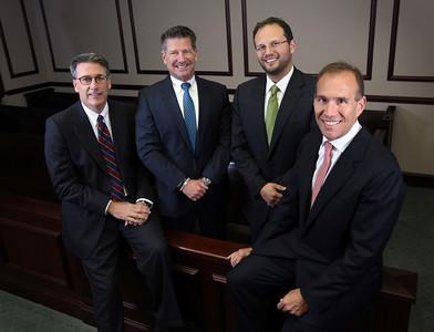 Law Offices of Sheldon Schlesinger L to R are: Crane Johnstone, Steven Hammer, Jonathan Gdanski, and Scott Schlesinger.  Most Effective Lawyers