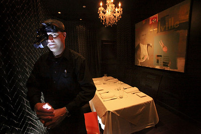Greg Kovach is the Dining Room Captain and your Dining in the Dark server at Market 17.  A family owned restaurant has built their entire business around the Farm to Table concept.  If you are in the mood to Dine in the Dark, a server will then his don night-vision goggles and bring your meals with the aid of a flashlight. Dining in the dark is served as a blind tasting menu.