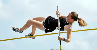 Boyd Anderson High School is the setting for the North Central Track Meet. Ft. Lauderdale Highs' Lauren Cooper won the girls pole vault at 8'6.