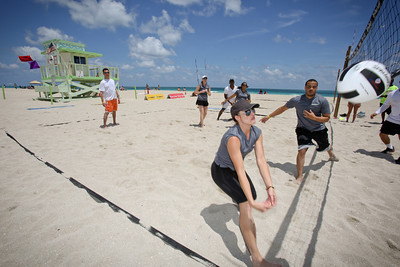 Weekend warriors come out to compete in the Corporate Warriors Challenge Miami at Haulover Beach.