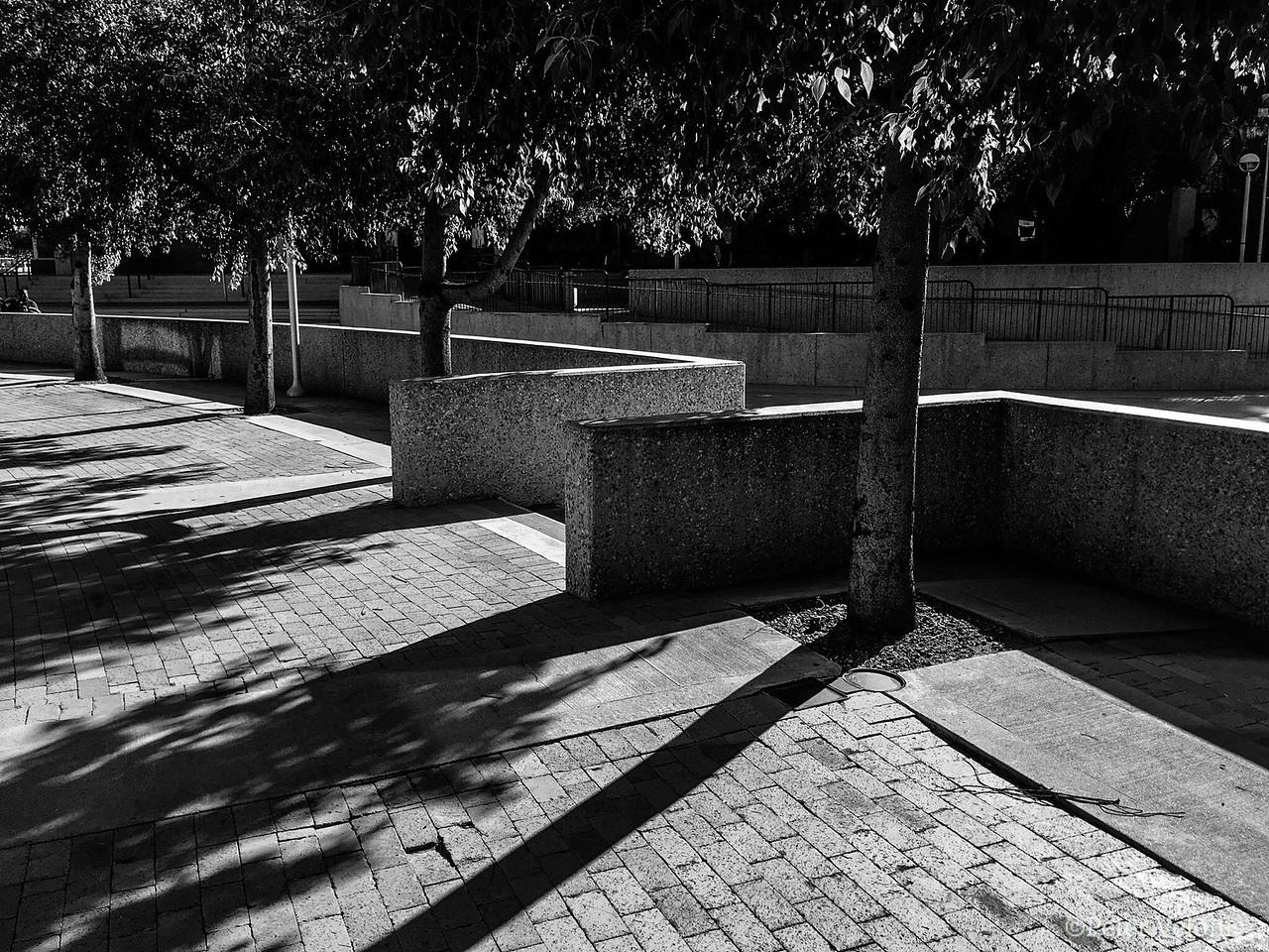 Walkway and wall