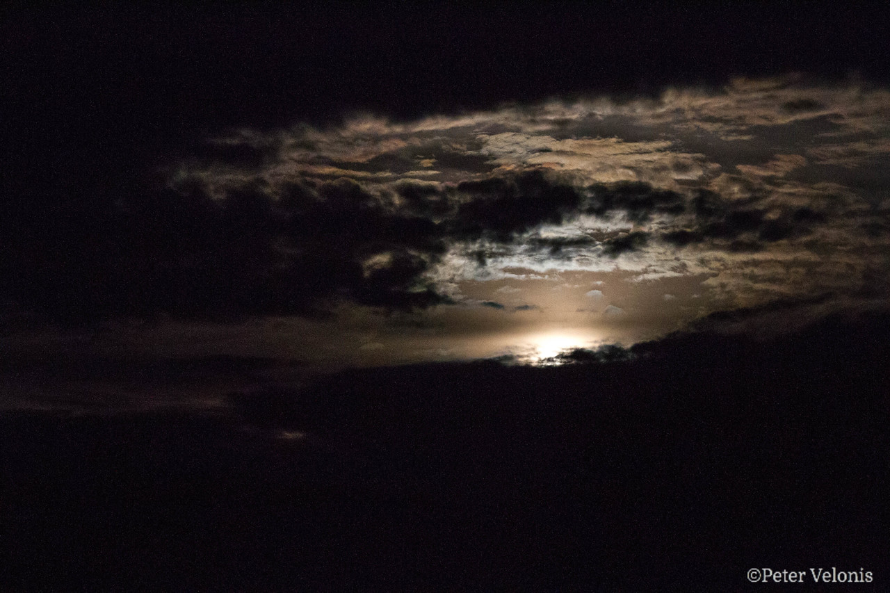 Moonrise over the Rincon Mts.