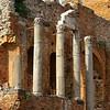 Greek amphitheater ruins.