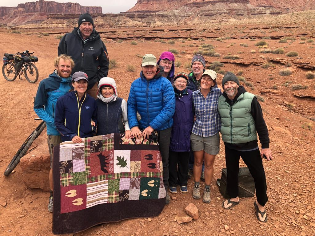 Breakfast hosts and trail angels in the White Rim