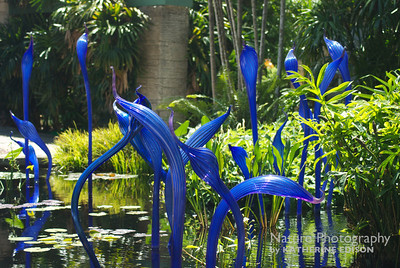 Cobalt Blue Glass Herons