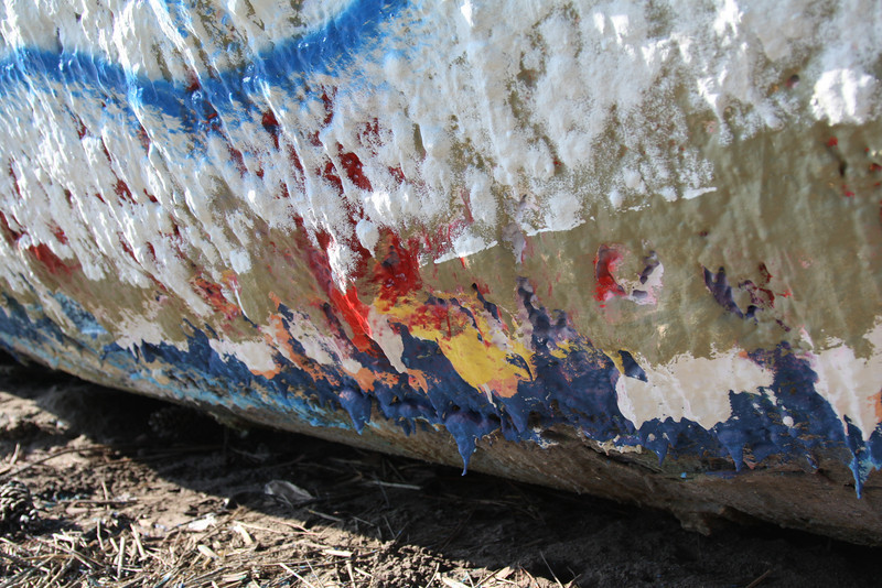 DAY 7: August 6, 2010<br /> I wonder how many layers of paint has been added to the Folly Boat. Amazing in how thick it looks up close. One day, I'll paint something on it.....