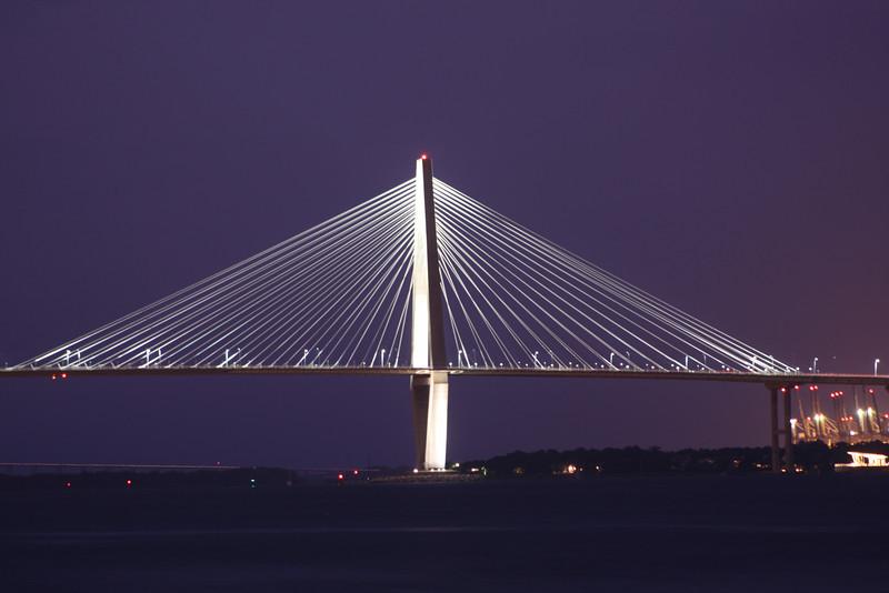 DAY 11: August 10,, 2010 Ravenel Bridge taken about 8:00PM