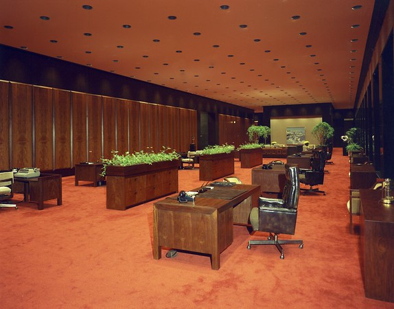 Bank of America office, 1972