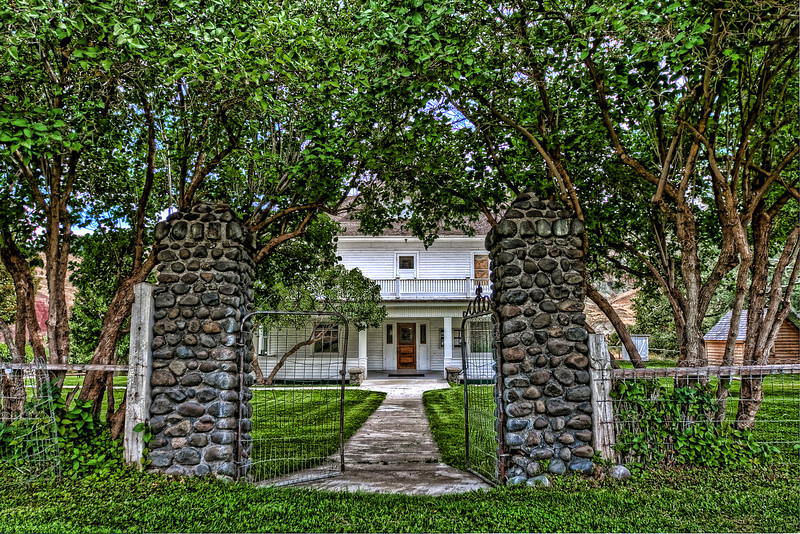 The Entrance to The Cant Ranch Home.