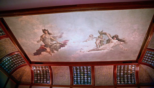 The Ceiling in the Den at Glenmont
