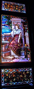 Stained Glass Window in Glenmont The Edison Estate