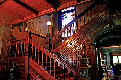 The Grand Staircase in Glenmont the Thomas Edison Estate