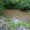 High & muddy Six Mile Creek