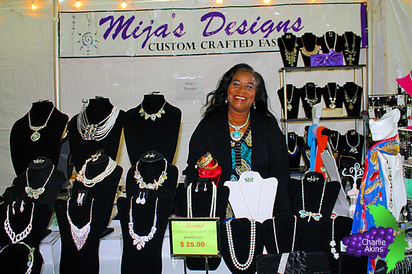 This lady sells jewelry