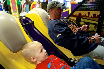 Birthday Party frenzy at Chuck E. Cheese's