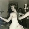Joyce Reilly dressing for her wedding