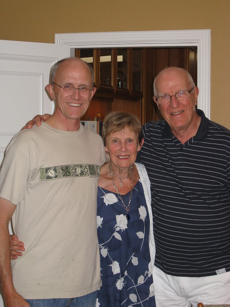 Thomas with his parents, June 2012