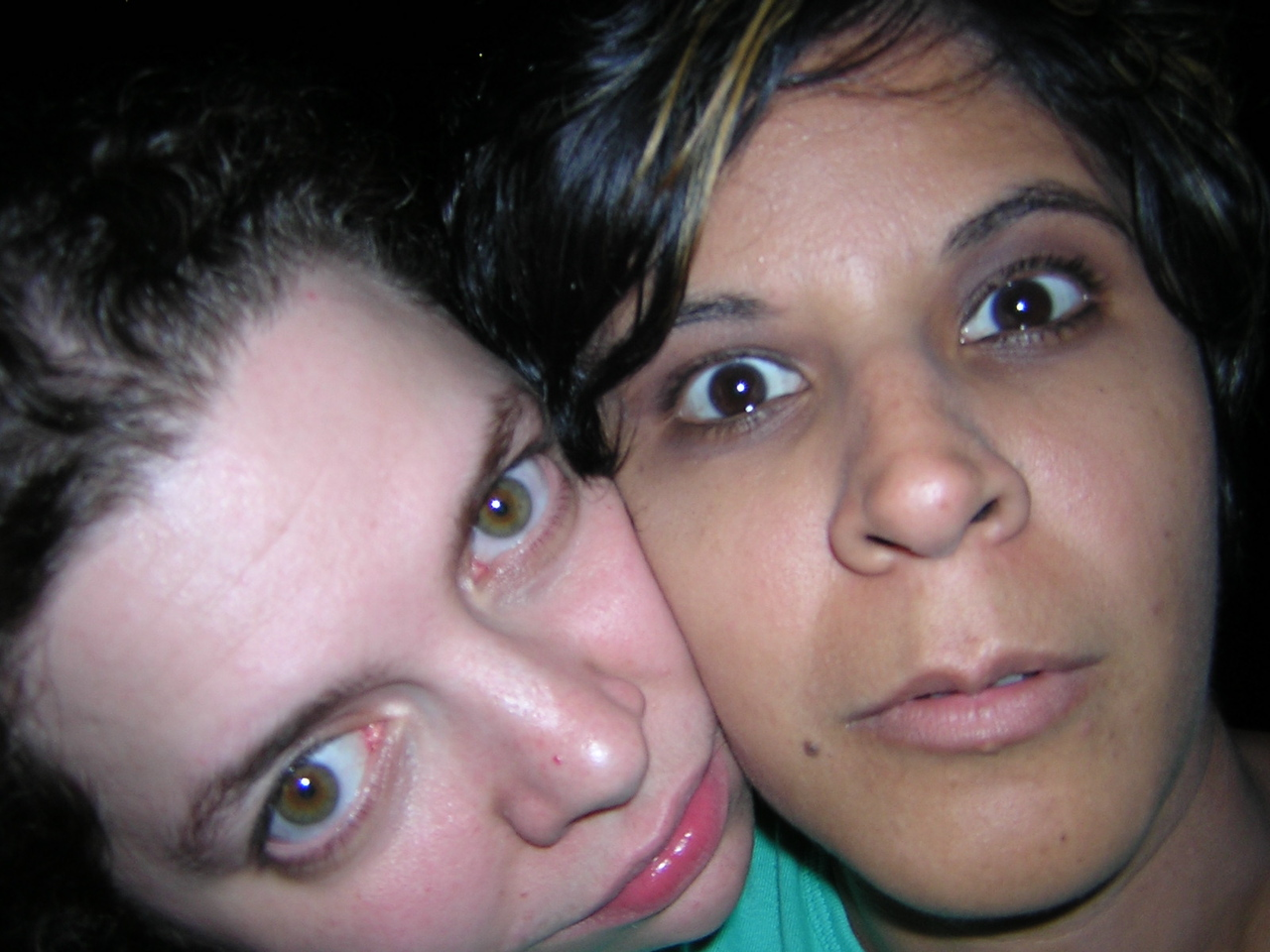 I think someone hijacked my camera, but isn't this a cute pic of Erin and Laurie?