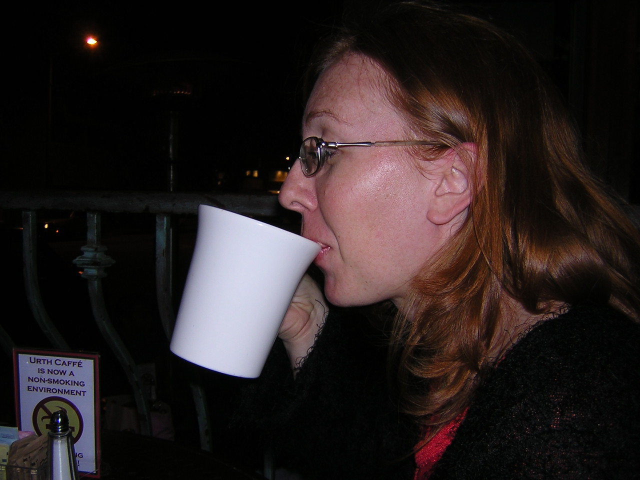 Courtney and her frothy beveragenDSCN3188