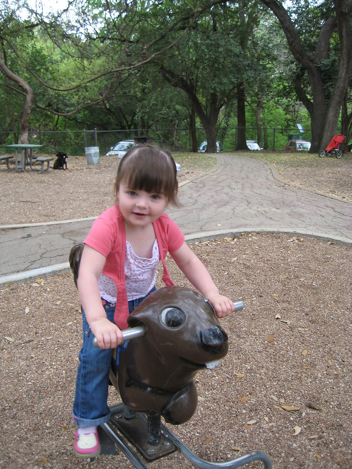 Riding the Squirrel at the park