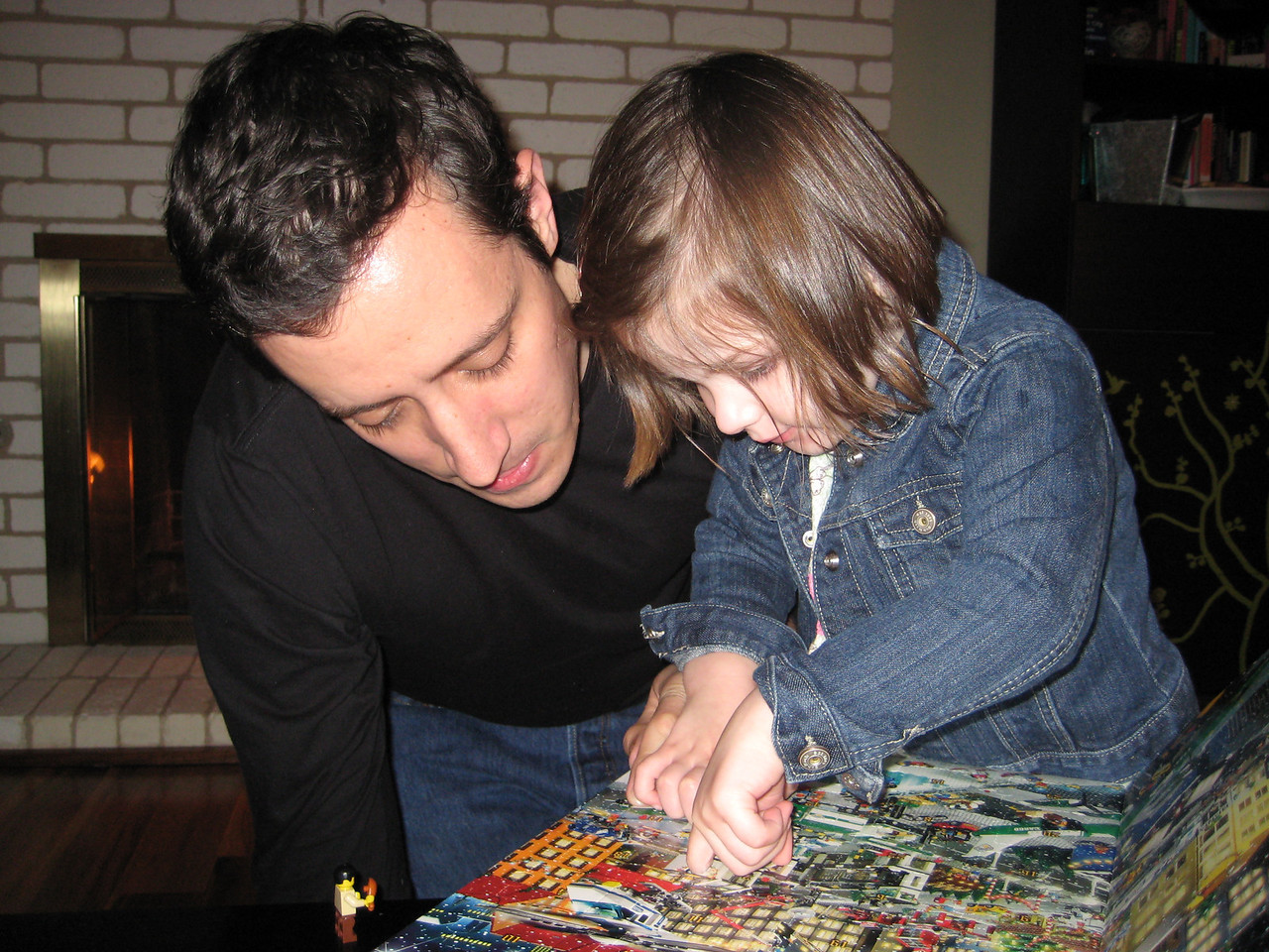 Doing the Advent calendar with Daddy