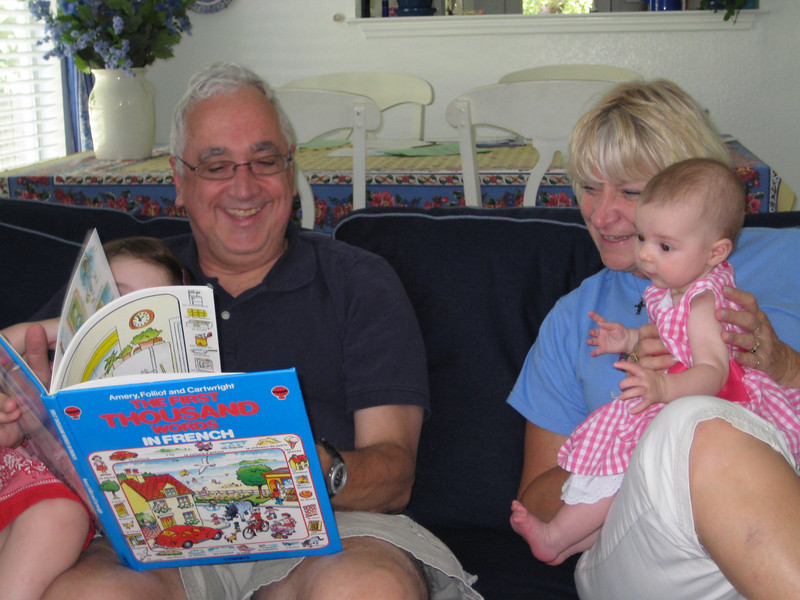 Reading with Baba and Grandaddy