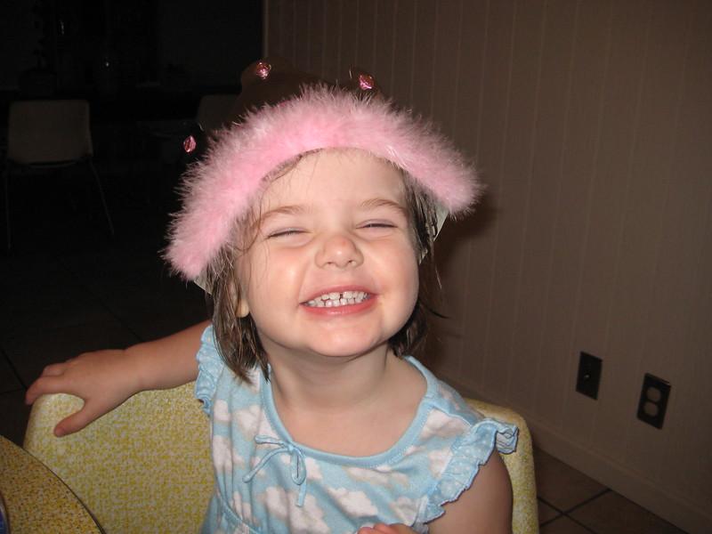 Being cute in her Princess crown