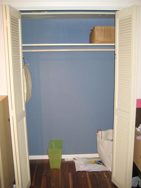 BabyBean's closet:  empty!