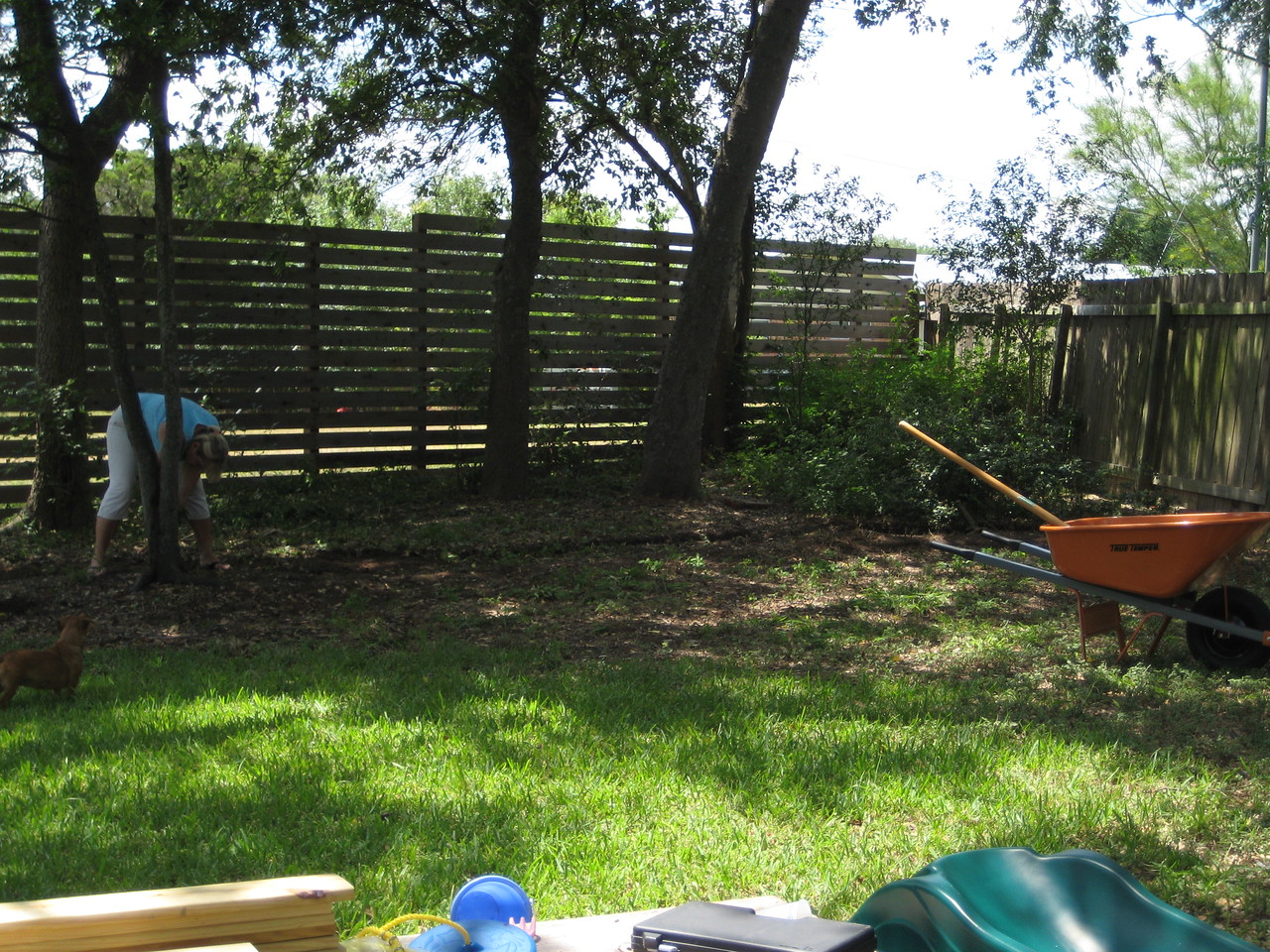 Clearing out for the playset