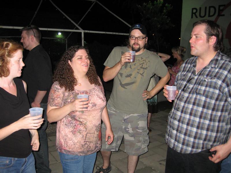 At the Teacher Teacher After-party: Anna, Erin, Ian King and Ian LeClair