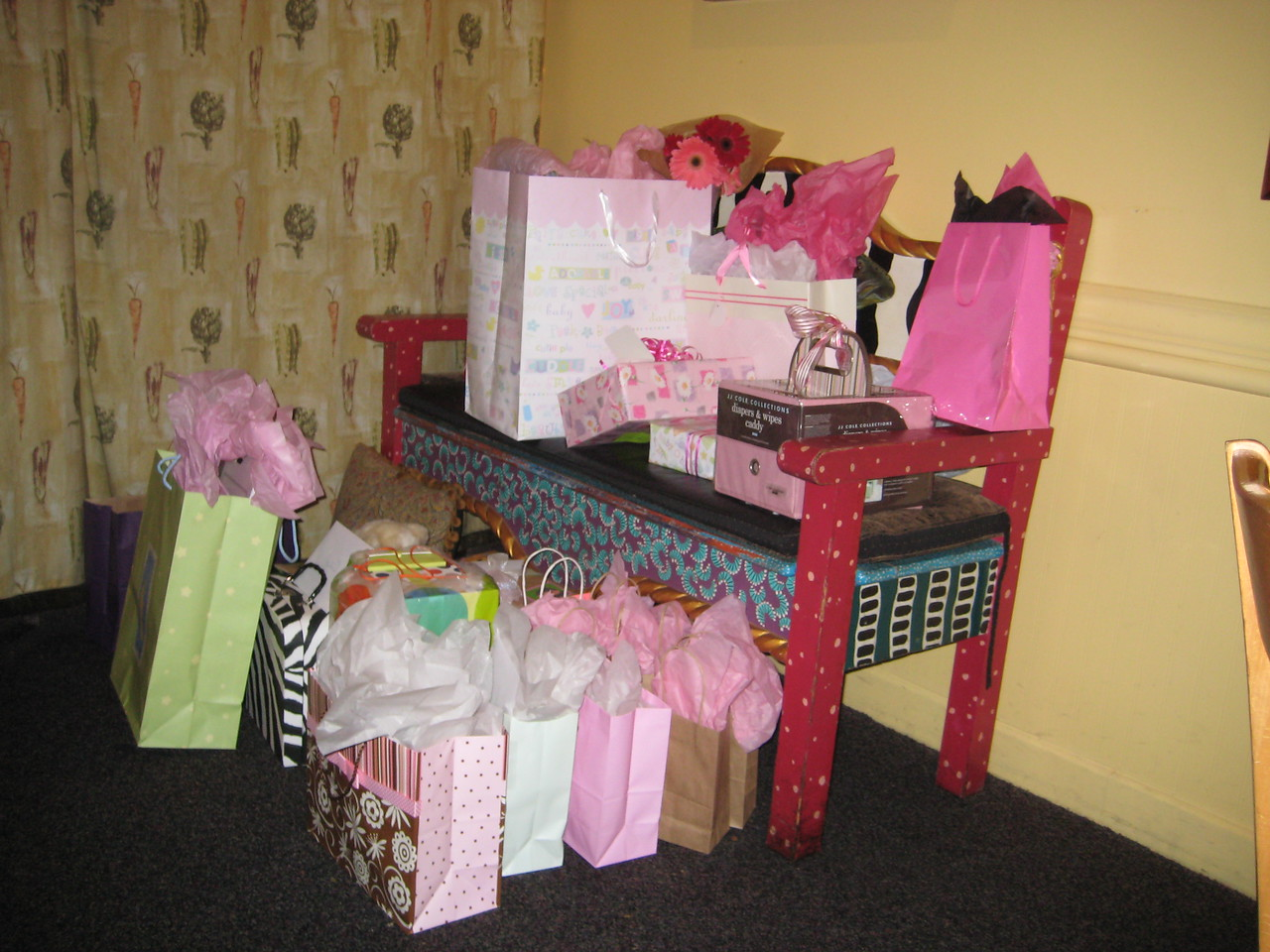 Presents at the shower
