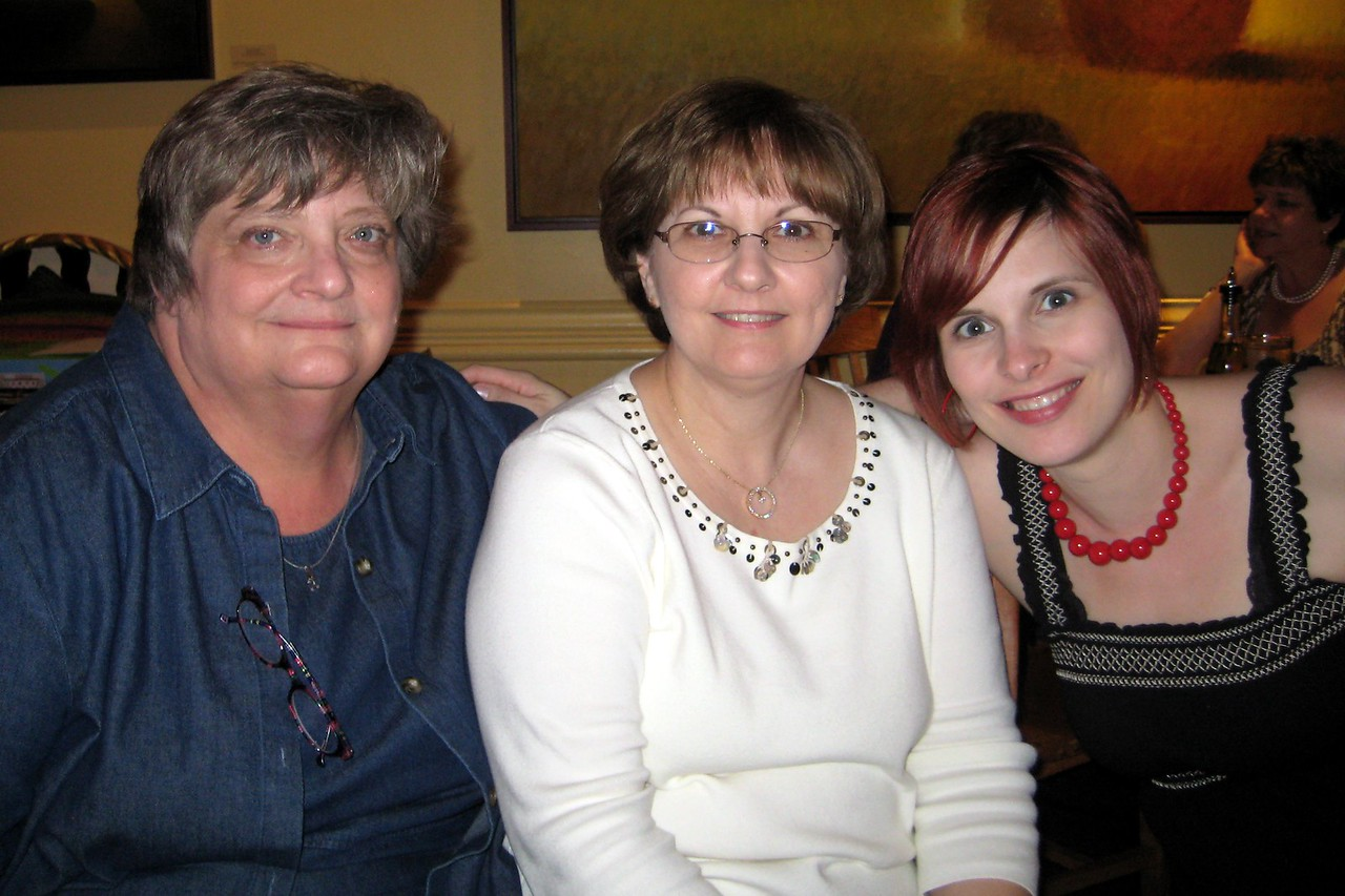 Aunt Debbie, Mom and I