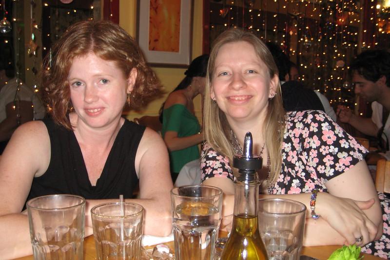 Anna (with sassy new do) and Tara