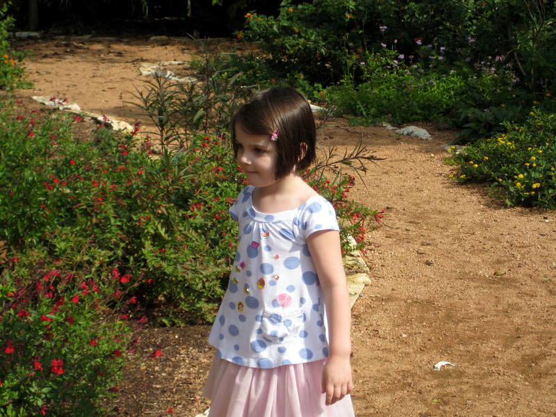 In the butterfly garden at Tanglewood Park