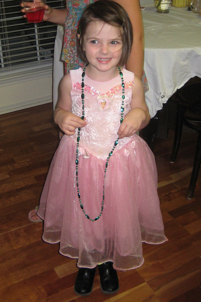 Playing dress-up at AnnaCate's Princess Party