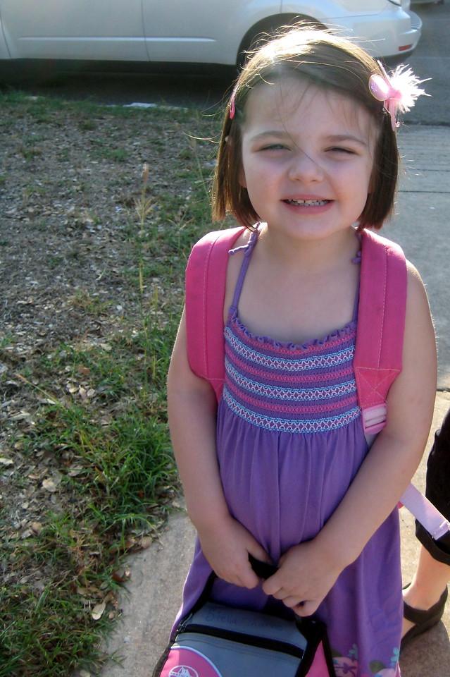 Stella's first day of school